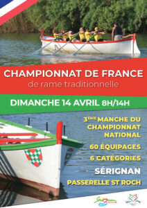 RAME TRADITIONNELLE - CONVOCATION Pour le 13 Avril 2019 - Championat National à Sérignan le 14 Avril