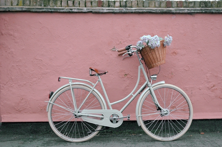lovely-bike-and-pink-wall