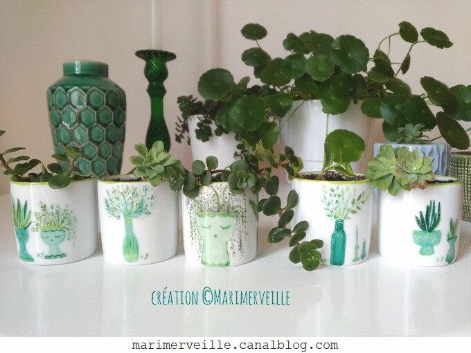 petits pots plantes green attitude - creation ©Marimerveille