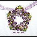 pendentif étoile de cristal vert violet