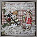 carte Noël rouge