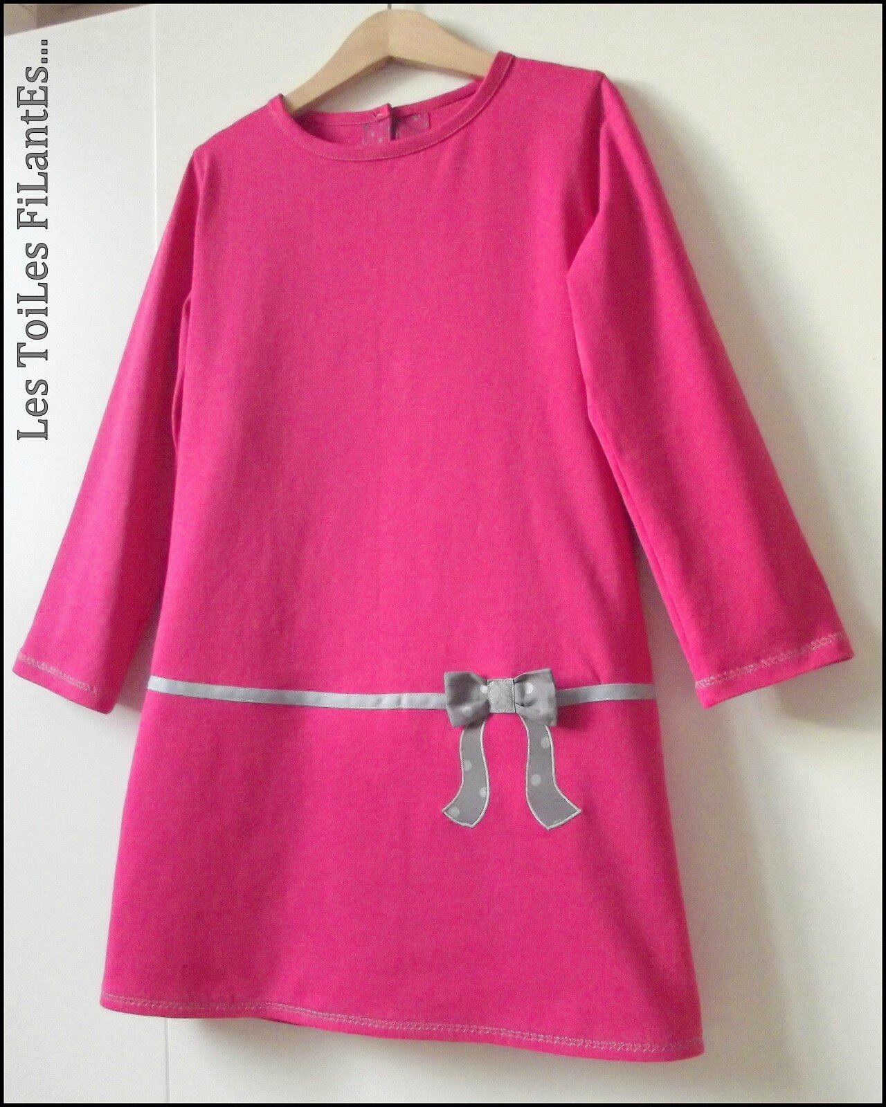 Robe jersey rose FDS7-001