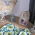 Culotte BIANCA en coton vert imprimé wallpaper orné d'un noeud de vichy vert (3)