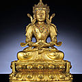 An imperial gilt-bronze figure of amitayus, kangxi period (1662-1722)