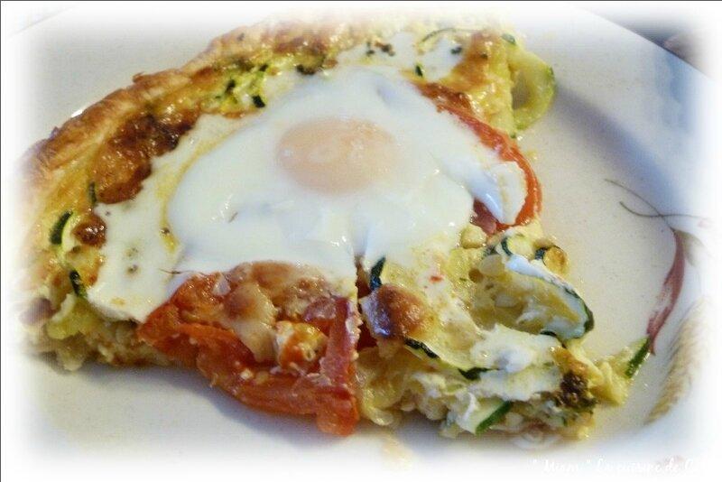 tarte légumes et œufs1