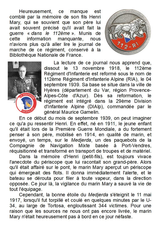11) La Drôle de Guerre d'Henri MARY - Page 10