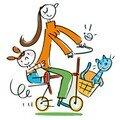 A madame cycliste