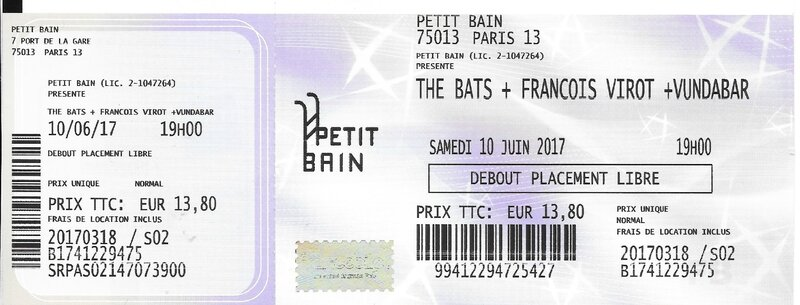 2017 06 10 The Bats Petit Bain Billet