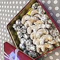 Croissants et boules de noisettes