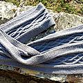 Une écharpe à motif irlandais