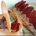 Filet de daurade en ecailles de chorizo, ecrin croustillant de ratatouille