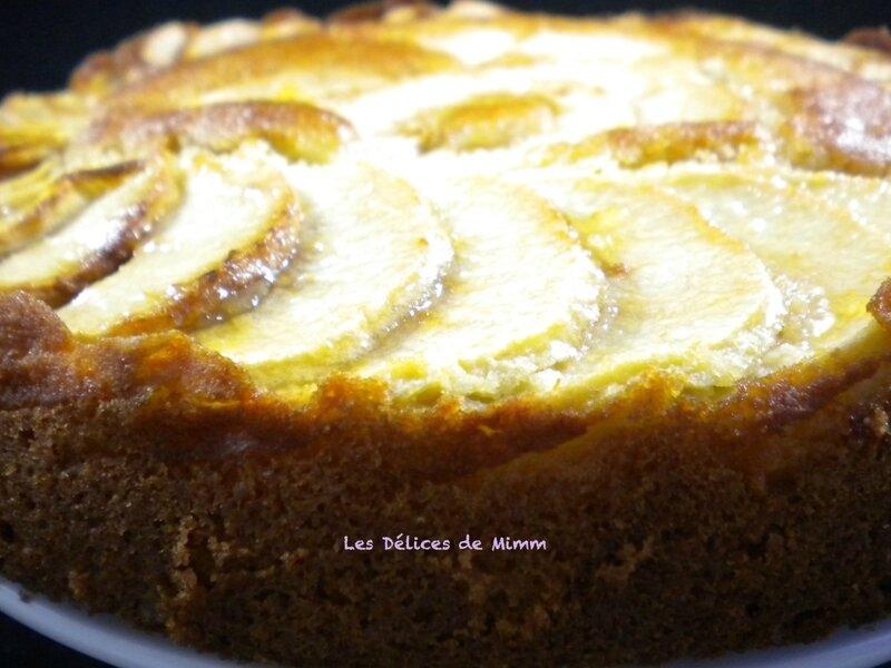 Moelleux aux pommes et à la crème d'amandes 6