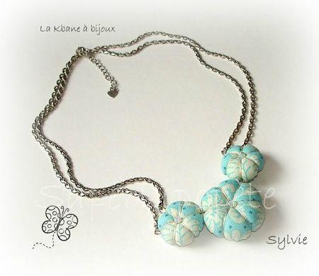 collier 3 potirons imprimé bleu turquoise1