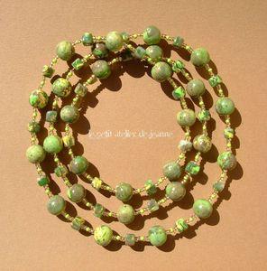 Collier long vert