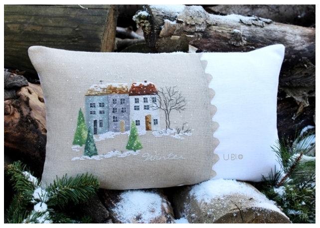 ein dorf im winter 2