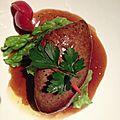 Foie gras poêlé sur radis japonais chez shintori