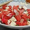 Salade de pasteque au ras el hanout .