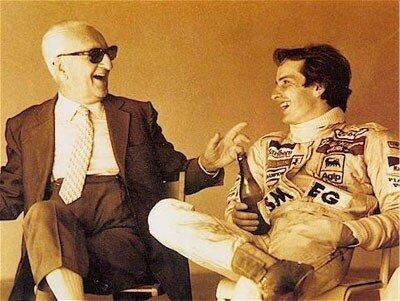 Enzo Ferrari et Gilles Villeneuve