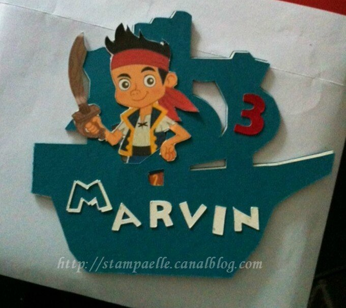 carte Marvin 3 ans