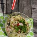 Salade de radis et courgette à l'huile d'argan