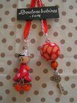 collier 5 orange rouge
