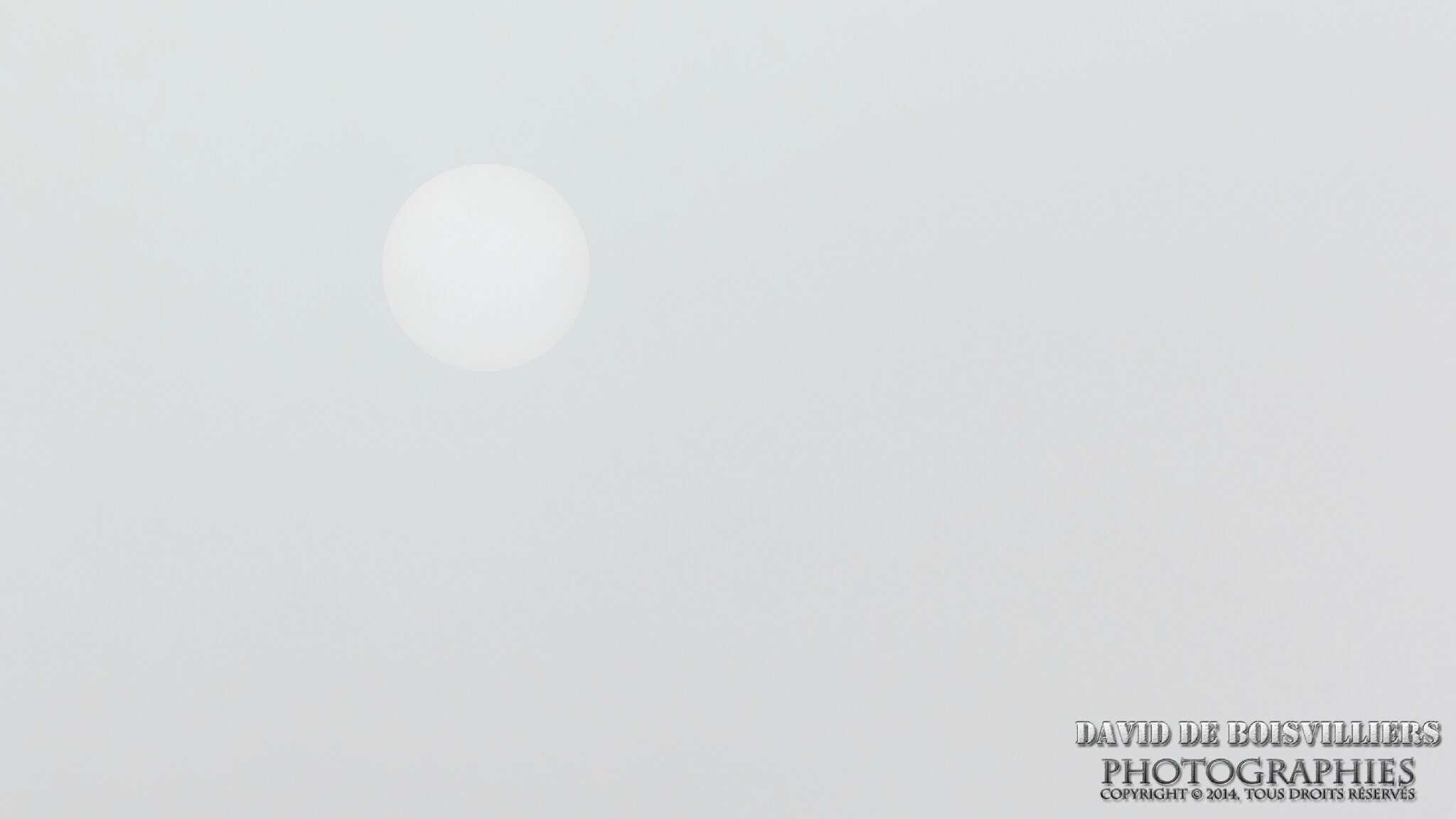 Soleil d'hiver à travers le brouillard ...