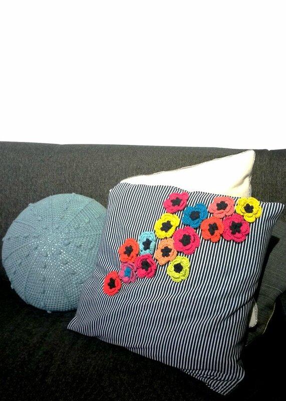 coquelicots multicolores - crochet deco - Anisbee