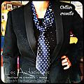 Créations en cravates d'homme reclyclées, sautoir original