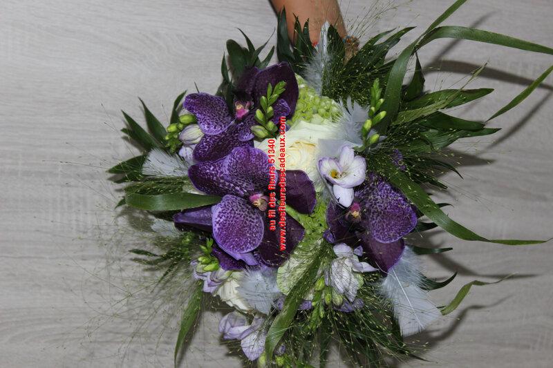 bouquet de mariée fleurs blanches et bleues pargny sur saulx (1)