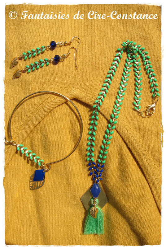 BO épis d'or vert collier jonc-2