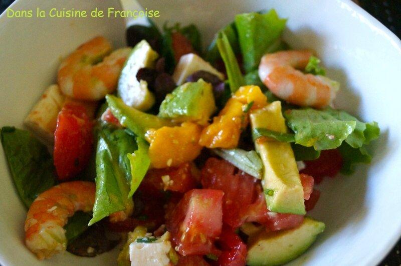 Salade Crevettes Mangue