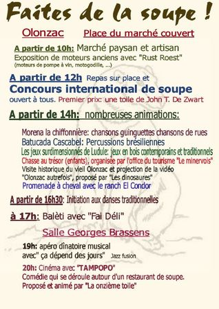 Flyer verso soupe light