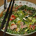 Phõ, soupe vietnamienne, revisité avec du chou kale