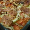 Gratin de légumes au crottin de chavignol
