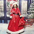 Robe de noel pour poupée barbie