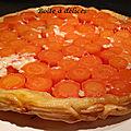 Tarte tatin de carottes et comté