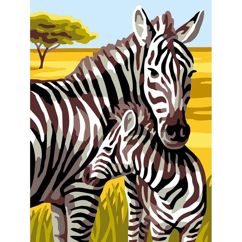 canevas zebre petit format