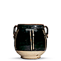 A small brown-glazed ribbed jar, Northern Song-Jin dynasty (960-1234)