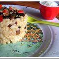 Repas à l'italienne suite : le risotto aux cepes et aux 2 tomates