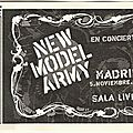 New model army - jeudi 5 novembre 2009 - sala live !! (madrid)