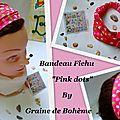 Bandeau + - 3 ans Pink Dots