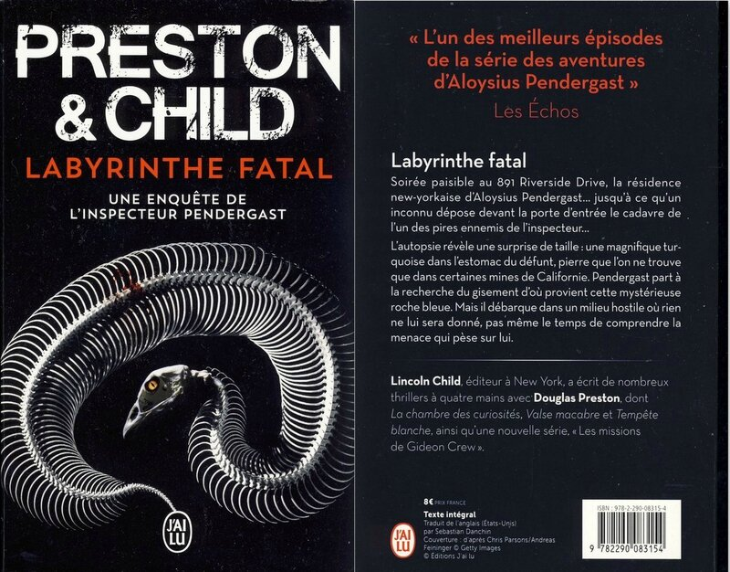 5 -Labyrinthe fatal - Preston & Child