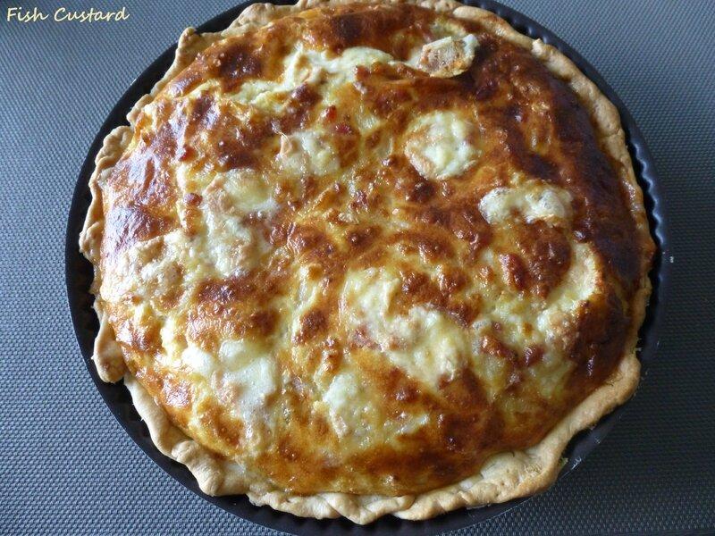 Quiche au Munster, fromage blanc et lardons (2)