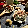 Veggie cup, lotus, amusette à la crème de noix de cajou /amandes