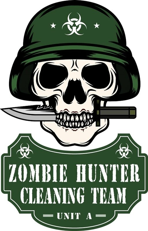 Zombie - zombie outbreak - Zombie party - Zombie response - Zombie hunter - Zombie team - biohazard - Printables - labels - Halloween - Airbone - Special force - destruction - cleaning