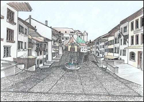 Place_du_march__Gruy_res_dessin_de_Yves_Murith