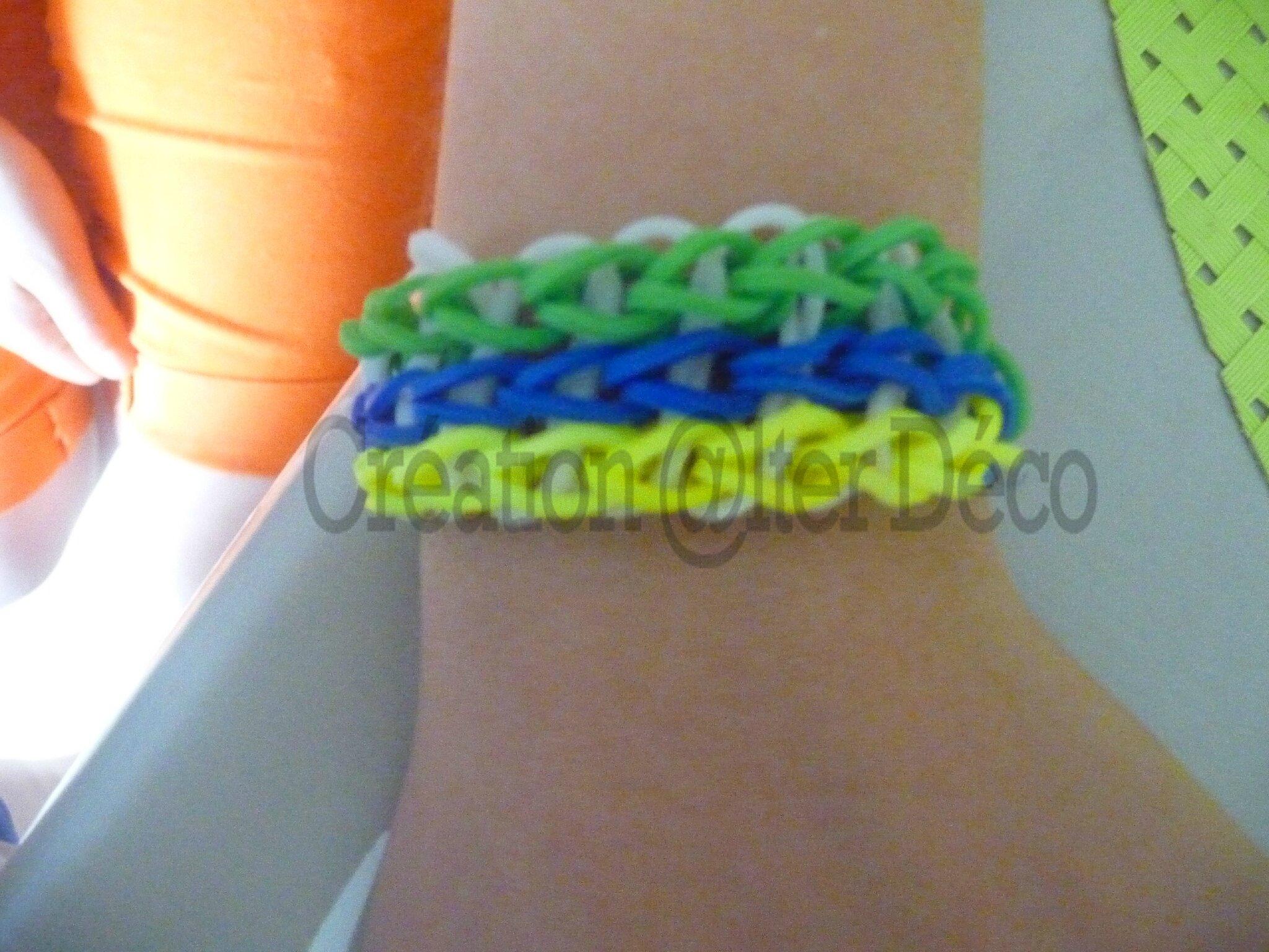 Bracelet en élastiques
