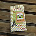 Mini album sur fond de carte routiere