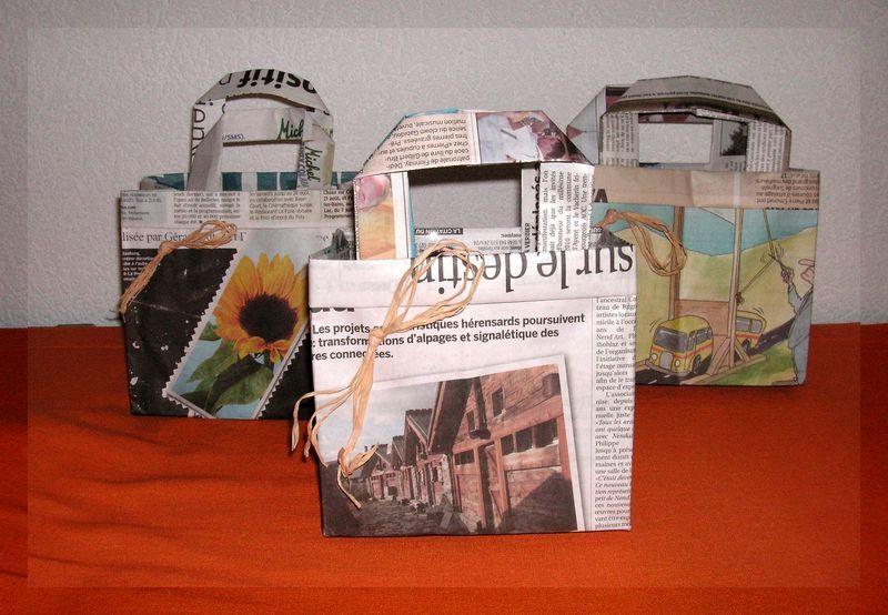 prix spécial pour acheter authentique grande variété de modèles sac en papier journal - aventures créatives de ludmilla