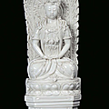 A blanc de chine porcelain guanyin, china, dehua, qing dynasty, 19th century